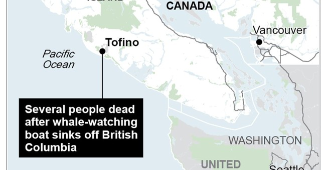 Canadian officials: Whale vessel sinks; 5 dead, 21 rescued
