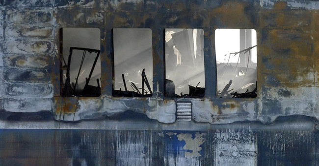 Heat, smoke delay search of Greek ferry for bodies