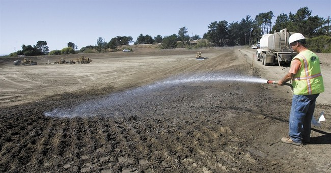 Citing drought, California town rushes water plant