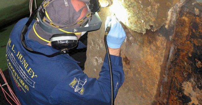 After 150 years, Confederate submarine's hull again revealed