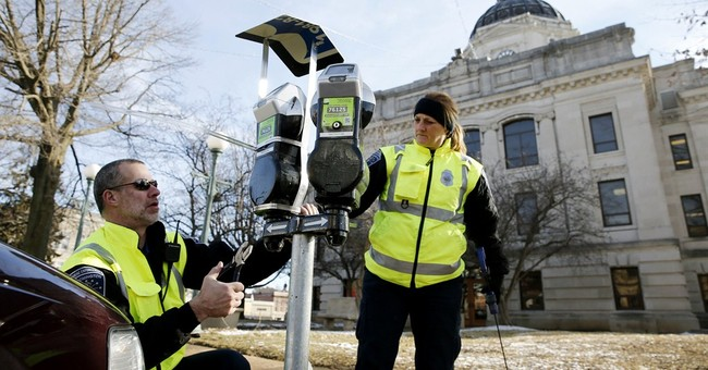 Indiana city parking meters besieged with crow droppings