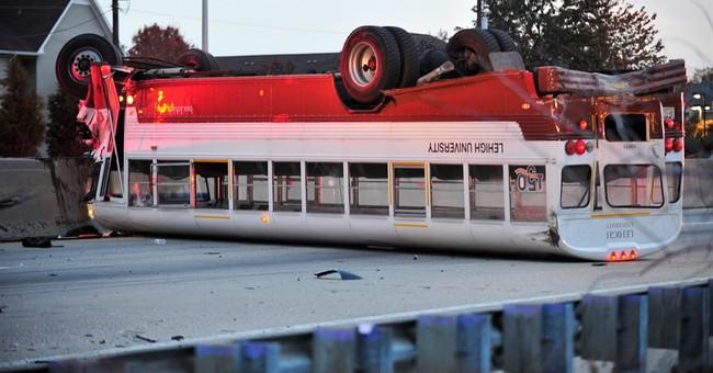 Crash involving Lehigh University rowing team's bus kills 1