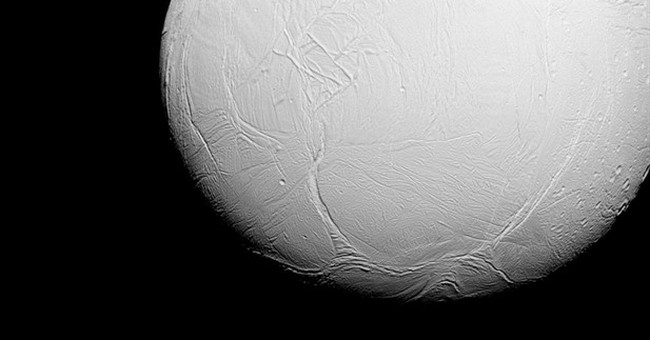 Spacecraft diving deep into Saturn moon's erupting water jet