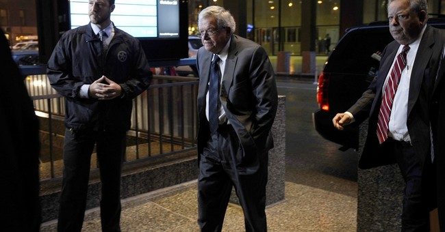 The Latest: Hastert admits to hush money in written deal