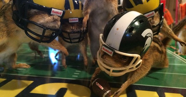 Dead chipmunks portray Michigan State's miracle football win