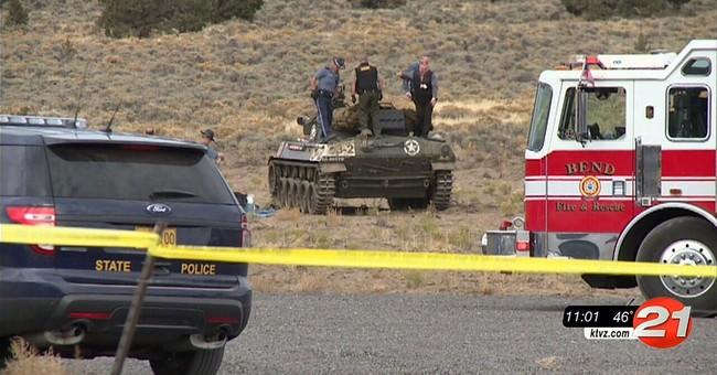 The Latest: Crew was filming tank firing when blast killed 2