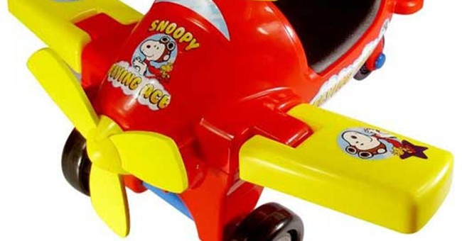 Recalls this week: Ride-on toy planes, bicycle trailers