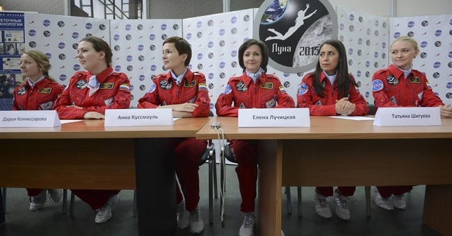 Russian women on space test unworried about absence of men