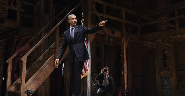 On Broadway, Obama takes a bow mocking Republicans