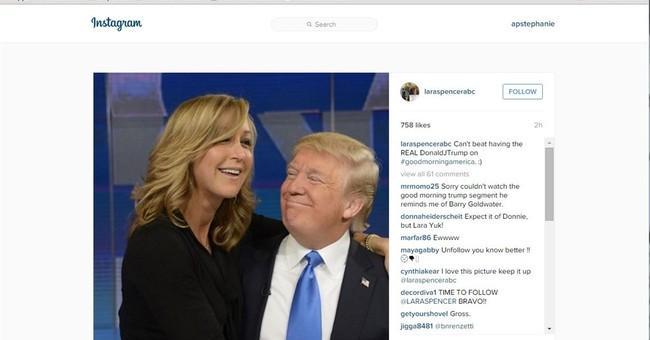 GMA anchor Lara Spencer posts photo hugging Donald Trump