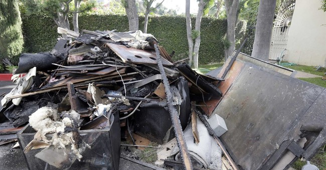 Fire damages singer Johnny Mathis' Los Angeles home