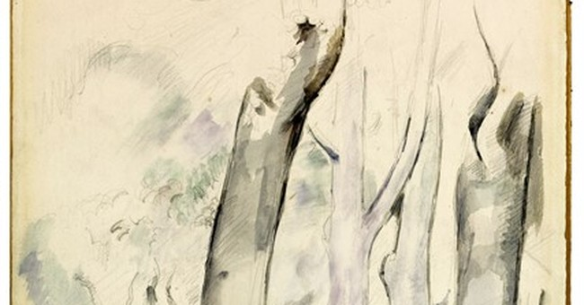 Cezanne drawing discovered on back of artist's watercolor