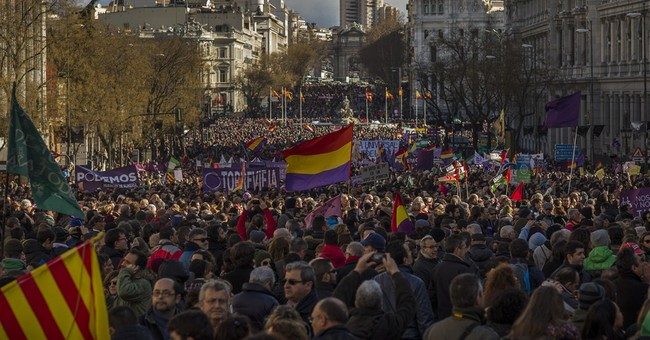 Spanish radical left party gets boost with huge Madrid rally