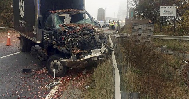 Truck spills cranberries in accident on Cape Cod bridge
