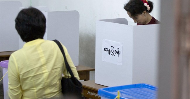 The Latest: Aung San Suu Kyi wins seat in Myanmar vote