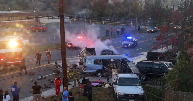 The Latest: Pastor IDs victims in fiery Maryland crash