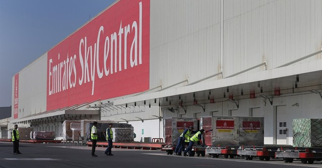 Emirates airline's cargo operation takes off at new airport
