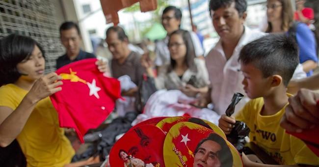 The Latest: Opposition: Myanmar leader congratulates Suu Kyi