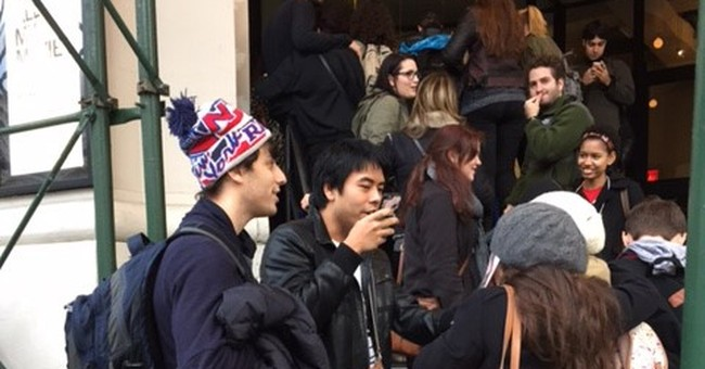 Fans wait _ and wait _ to see LaBeouf watch his own movies