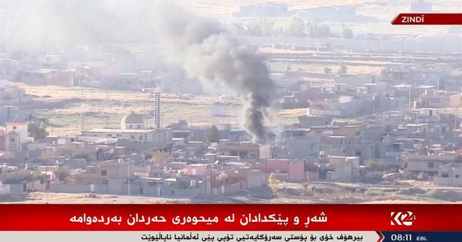 Amid offensive, Iraqi Kurds cut Islamic State supply line