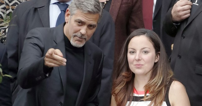 George Clooney draws crowds as he visits Scottish cafe
