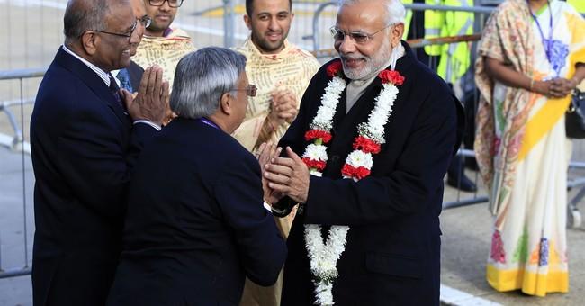Pomp, protests greet India's premier Modi on lavish UK visit