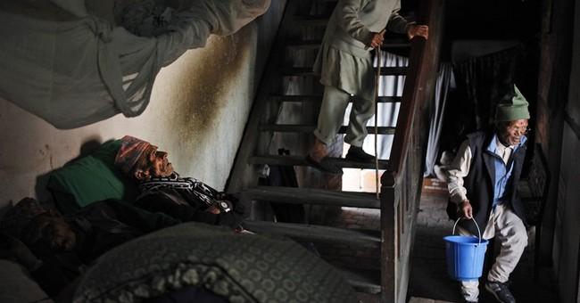 AP PHOTOS: Elderly Hindus fete festival of lights in Nepal