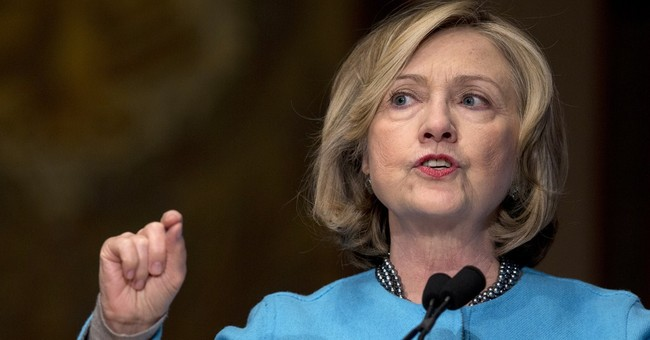 In a low-drama primary, how does Clinton run?
