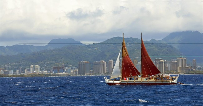 Hawaii canoe hits halfway mark in round-the-world voyage