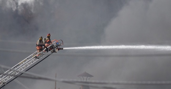 Evacuation lifted after fire at fracking chemical warehouse