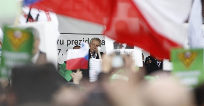 Czech president attends, addresses rally against Muslims