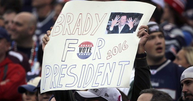 The ultimate running game: a Tom Brady play for president