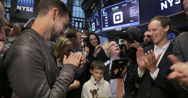 Square's stock soars 45 percent in first day of trading