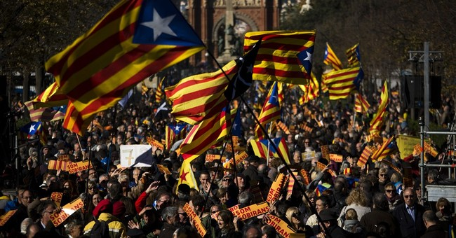 Pro-independence protest in Catalonia draws around 3,000