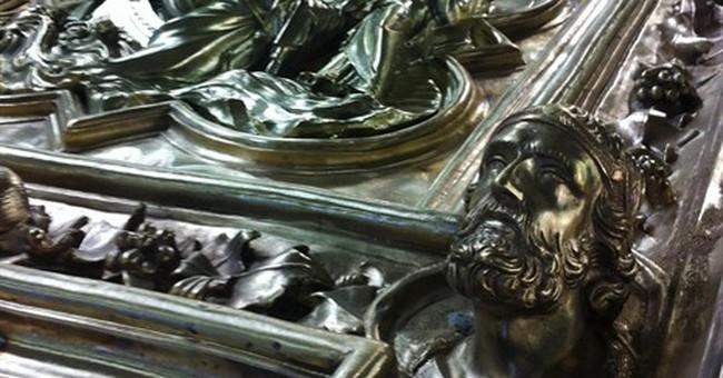 Artisans completing replica of Ghiberti's famed bronze doors