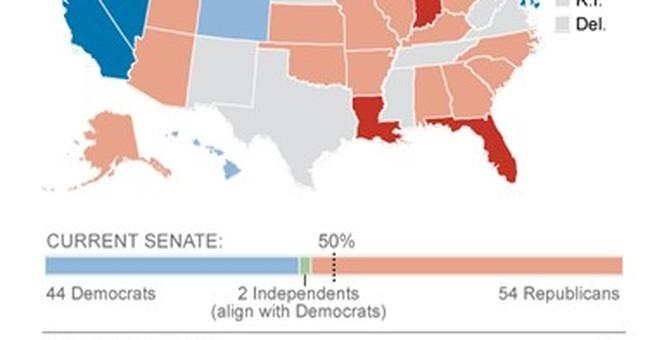 Republicans' tough Senate map gets another twist