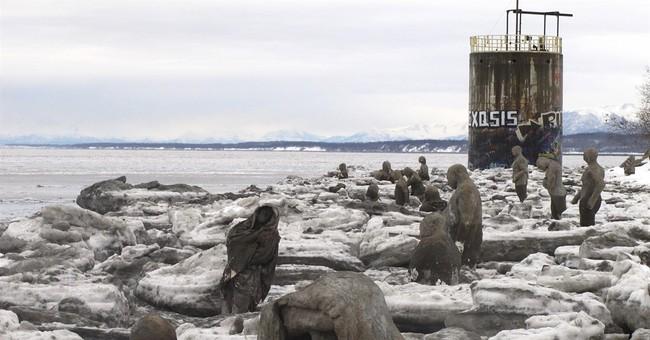 Alaska beach sculptures represent emotional vulnerabilities
