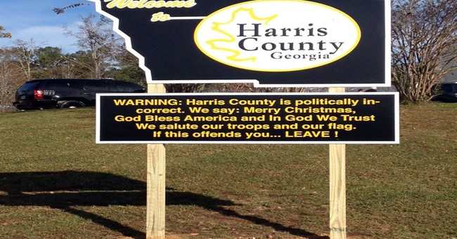 Georgia sheriff revels in 'politically incorrect' sign