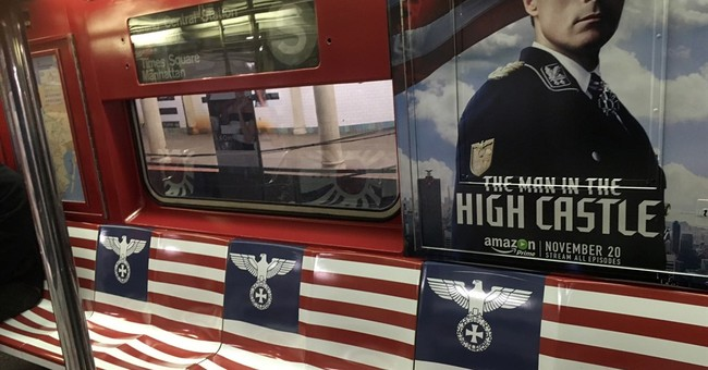 Ads featuring Nazi imagery pulled from New York City subway