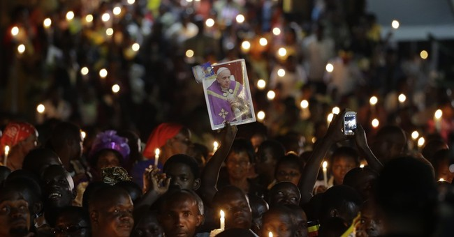 The Latest: 150,000 youths attend Pope's rally in Kampala