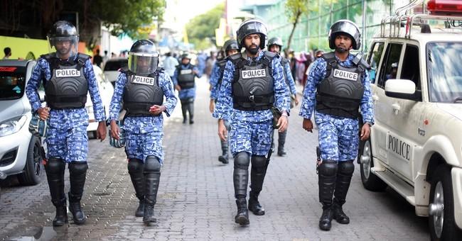 Maldives police break up protest for ex-president's release