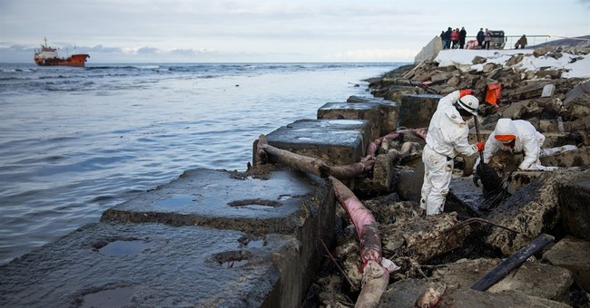 Russian oil tanker grounded in north Pacific