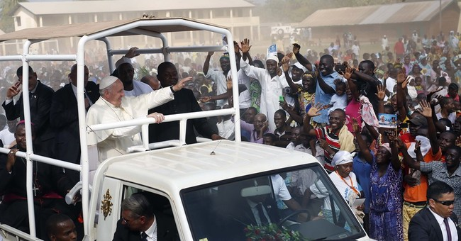 Pope urges peace while visiting C. African Republic mosque