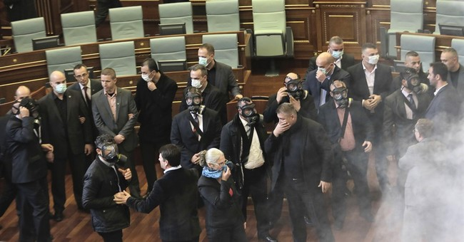 Kosovo Parliament disrupted with tear gas, again