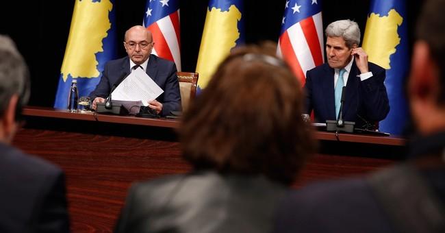 Kerry urges Kosovo to stick to deals on ethnic Serbs, border