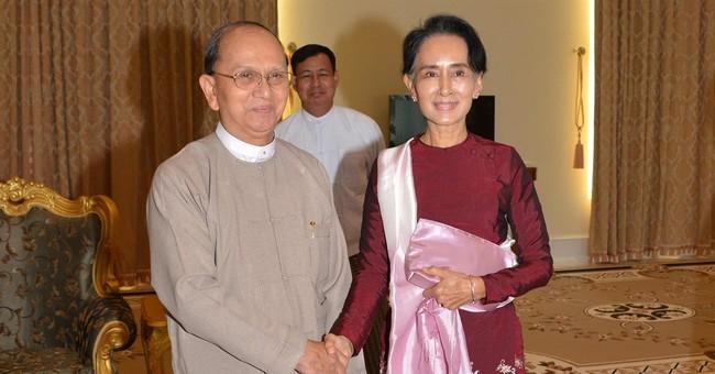 Suu Kyi meets Myanmar's outgoing president