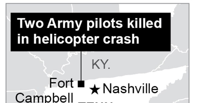 Army: 2 pilots killed in helicopter crash in rural Tennessee