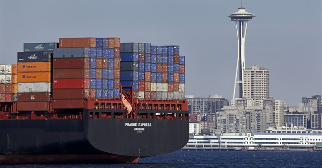 US trade deficit up 3.4 percent in October to $43.9 billion