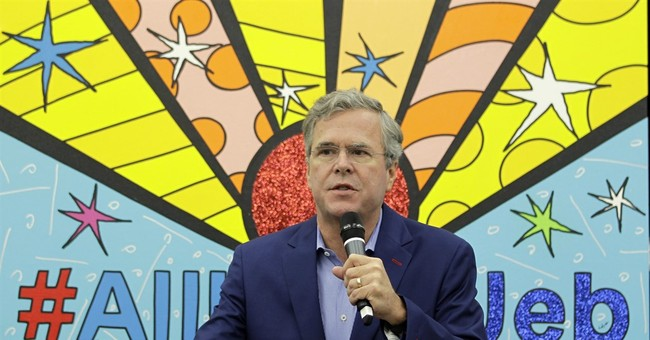 Jeb Bush campaign's rainbow of colors goes on display