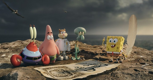 Review: SpongeBob's back, on a zany venture up to our world